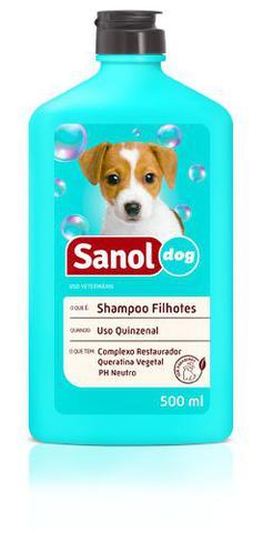 Imagem de Shampoo para Cães Filhotes + Perfume Colônia filhotes Baby + Condicionador Neutro Sanol - Kit Banho Cães Filhotes
