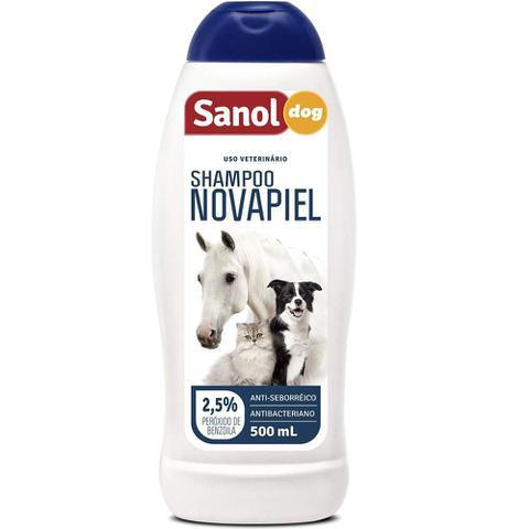 Imagem de Shampoo Sanol Novapiel para Cachorro e Gatos - 500ml