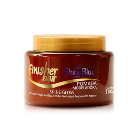 Imagem de Shine blue finisher hair pomada modeladora shine gloss 180g