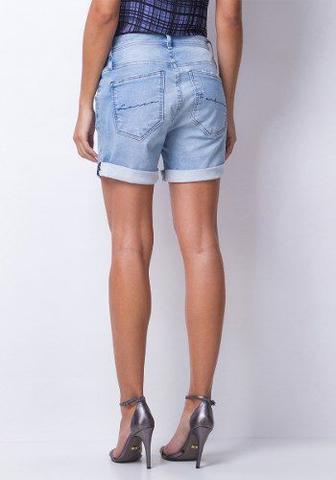 Imagem de Short Feminino Jeans Bermuda Casual Lança Perfume
