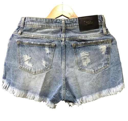Imagem de Short Jeans Feminino Hot Pants Lança Perfume Lançamento