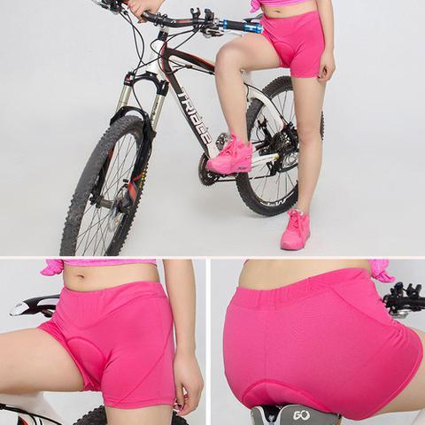 Imagem de Shorts Ciclismo Feminino Forro Espuma D60 Rosa Bike Mtb