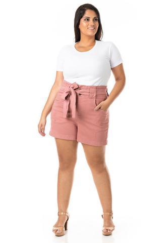 Imagem de Shorts Feminino Clochard com Cinto Plus Size