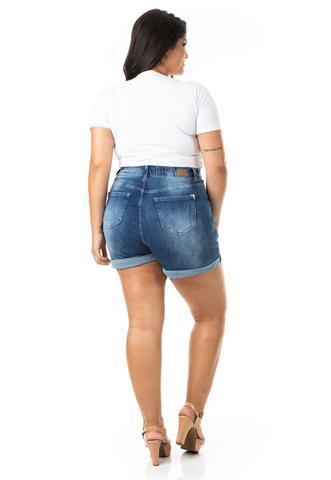 Imagem de Shorts Feminino Jeans Mom Plus Size