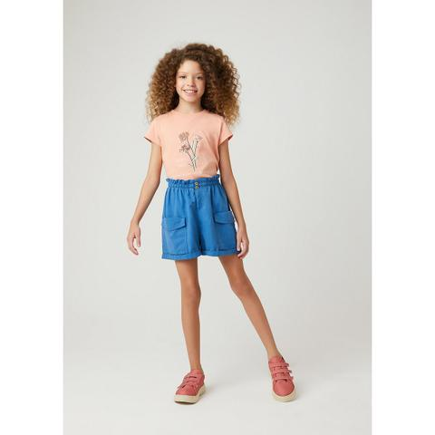 Imagem de Shorts Infantil Menina Clochard Com Linho