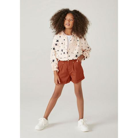 Imagem de Shorts Infantil Menina Clochard Em Sarja