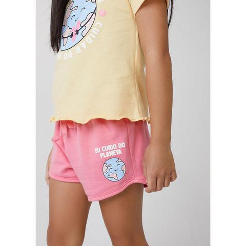 Imagem de Shorts Infantil Menina Em Moletinho Baby Alive