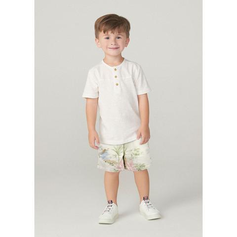 Imagem de Shorts Infantil Menino Em Sarja De Algodão Tal Pai Tal Filho