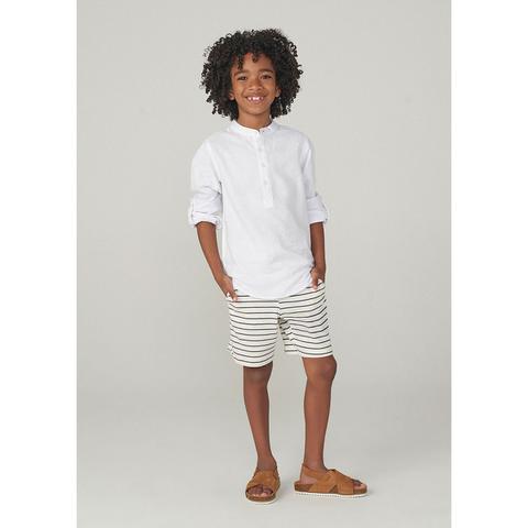 Imagem de Shorts Infantil Menino Slim Em Malha De Algodão Fio Tinto