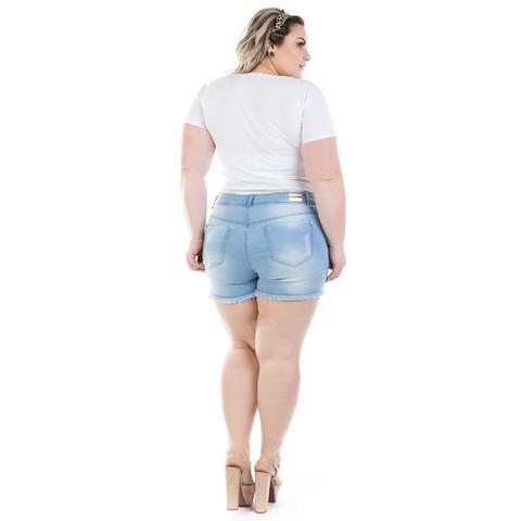 Imagem de Shorts Jeans Feminino Curto Destroyed Plus Size