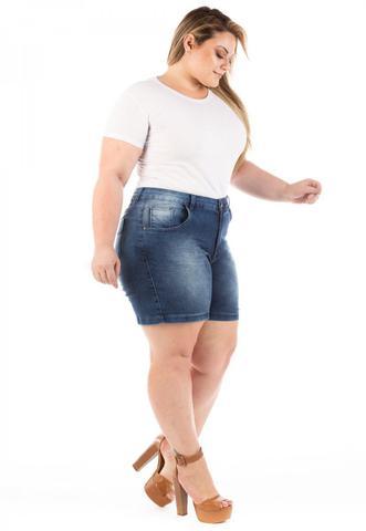 Imagem de Shorts Jeans Feminino Médio com Elastano Winter Plus Size
