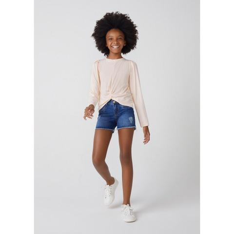 Imagem de Shorts Jeans Infantil Menina Destroyed