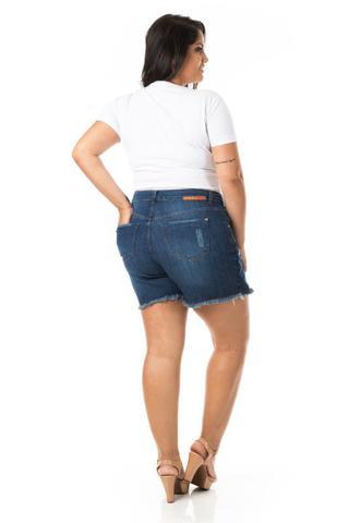 Imagem de Shorts Saia Feminino Jeans com Abotoamento Plus Size