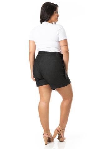 Imagem de Shorts Saia Feminino Transpassado Plus Size