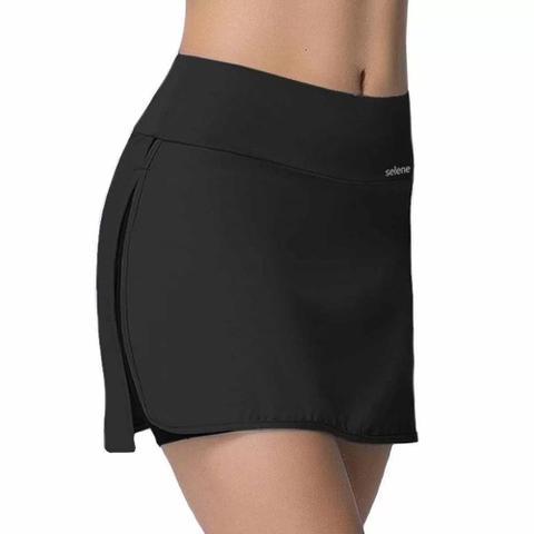 Imagem de Shorts saia selene fitness academia treino tennis