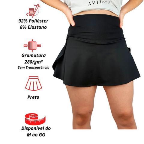 Imagem de Shorts Saia Suplex Preto Academia Atacado