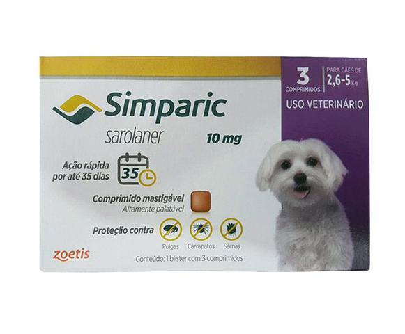Imagem de Simparic 10mg Zoetis 3 comp - Antipulgas Cães - Descrição marketplace