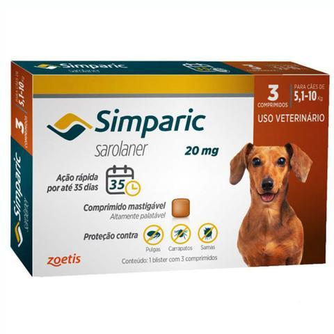 Imagem de Simparic Antipulgas E Carrapatos Caes 5,1 A 10kg C/3 Comprimidos