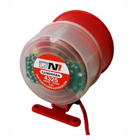 Imagem de Sirene para monitoramento e incêndio - 12/24V - DNI 4325