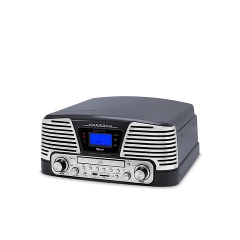 Imagem de Sistema de Áudio Bluetooth c/ Toca-Discos 2 Rotações (33 e 45 rpm) Controle Remoto,FM, CD e Pendrive