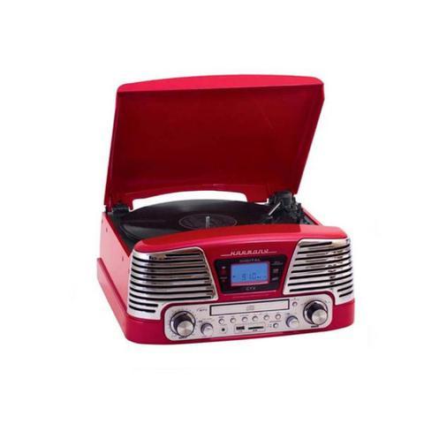 Imagem de Sistema de Áudio Bluetooth com Toca-Discos 3 Rotações, FM, CD, Pendrive e SD Card (Reproduz e Grava)