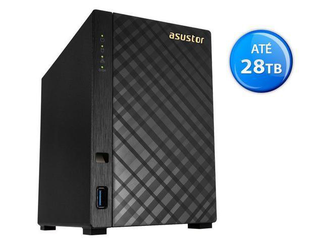 Imagem de Sistema de Backup NAS Asustor AS1002T V2  Marvell  ARMADA 385 1.6 GHZ 512MB DDR3 Torre 2 Baias