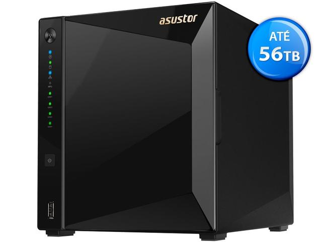 Imagem de Sistema De Backup Nas Asustor As4004t Marvell Dual Core 1,6ghz 2gb Ddr4 Torre 04 Baias Hot-swap