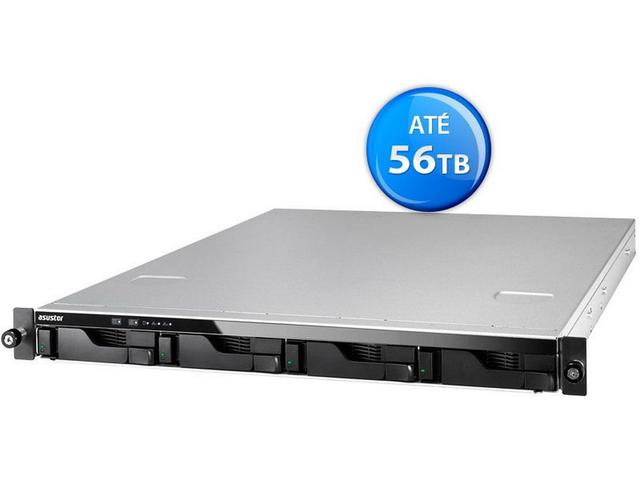 Imagem de Sistema de backup nas asustor as6204rs intel quad core j3160 1,6ghz  4gb ddr3 rack 1u 4 baias hot-sw