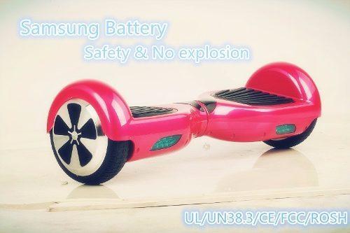 Imagem de Skate Elétrico Hoverboard 6.5 Led Bluetooth Bolsa Rosa Led