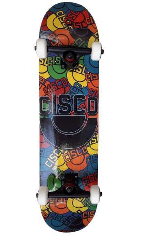 Imagem de Skate Montado Shape Cisco Roda Mosca Truck Creme Abec 15