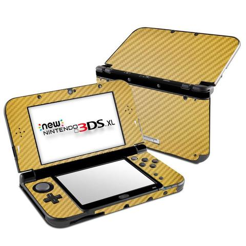 Imagem de Skin Adesivo Protetor 4D Fibra de Carbono New Nintendo 3DS XL (4D Dourado)