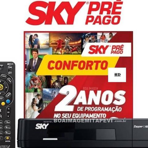 Imagem de SKY Pré-Pago Conforto HD -2 anos sem mensalidade