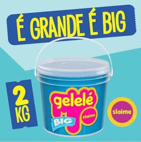 Imagem de Slaime big balde gelelé 2kg escolha as cores