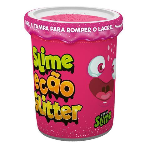 Imagem de Slime Ecão Glitter - 100g - Rosa Neon - DTC