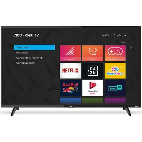 Imagem de Smart TV 43 Full HD AOC Roku 3 HDMI 1 USB Wifi Conversor Digital