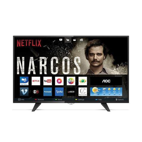 Imagem de Smart Tv 43 Polegadas Led Aoc 43s529578g com Wifi 2 Usb 3 Hdmi Controle com Botão Netflix e 60hz