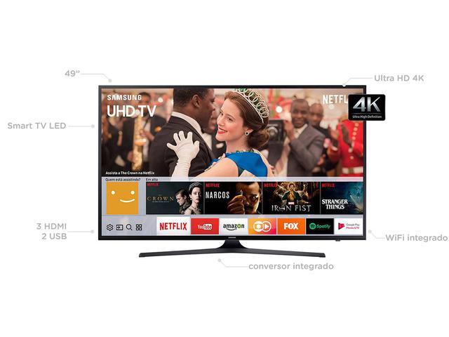 "Imagem de Smart TV 4K LED 49"" Samsung 49MU6100 Wi-Fi"