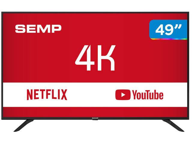 """Imagem de Smart TV 4K LED 49"""" Semp SK6000 Wi-Fi HDR"""