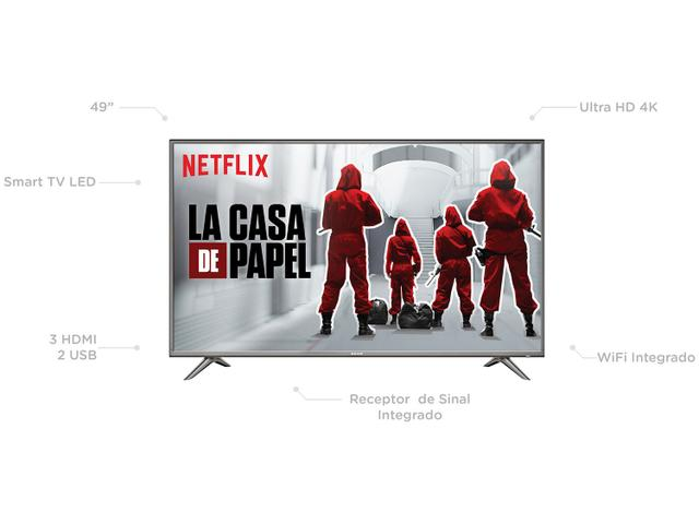 """Imagem de Smart TV 4K LED 49"""" Semp SK6200 Wi-Fi HDR"""