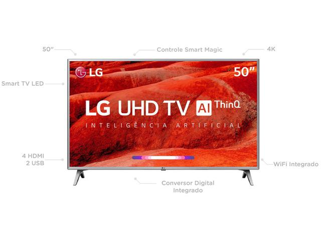 """Imagem de Smart TV 4K LED 50"""" LG 50UM7500 Wi-Fi"""