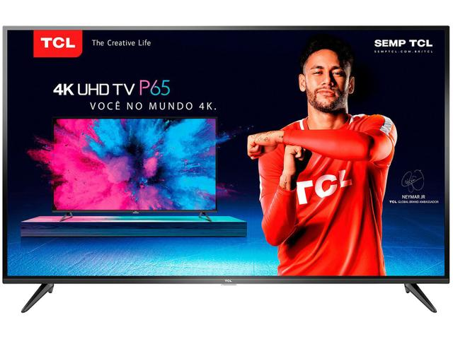 "Smart TV 4K LED 50"" TCL P65US Wi-Fi HDR - Conversor Digital 3 HDMI 2 USB"