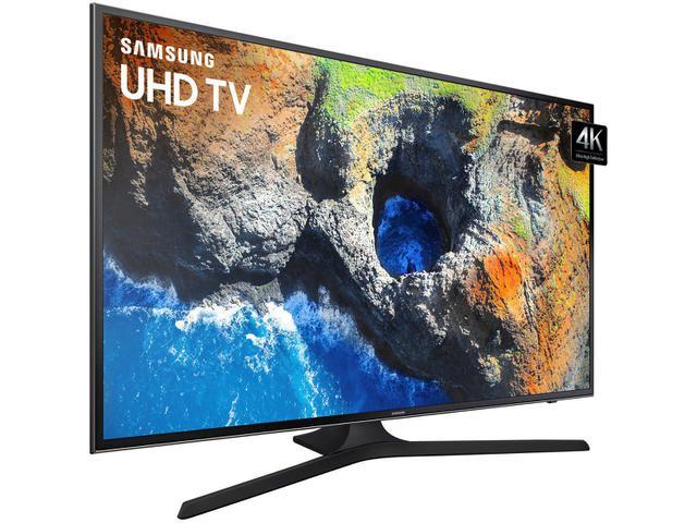 "a51ce6ac4 Smart TV 4K LED 55"" Samsung 55MU6100 Wi-Fi - Conversor Digital 3 HDMI 2 USB  - Smart TV - Magazine Luiza"