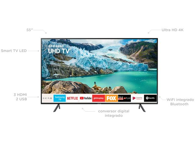 "Imagem de Smart TV 4K LED 55"" Samsung UN55RU7100GXZD"