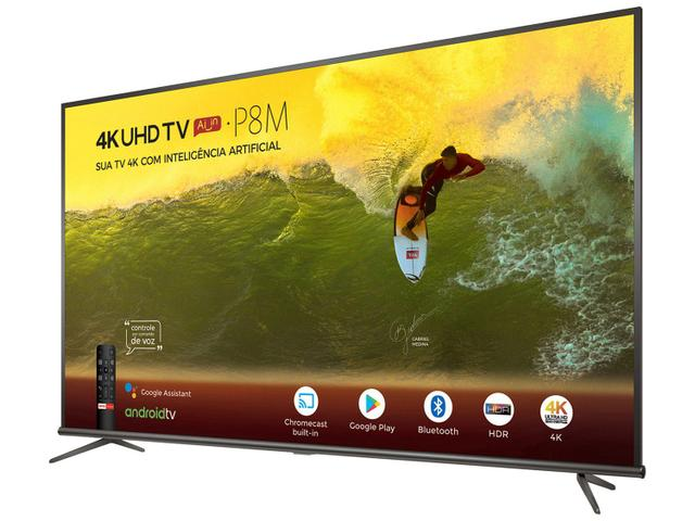"Imagem de Smart TV 4K LED 55"" SEMP TCL 55P8M Android Wi-Fi"
