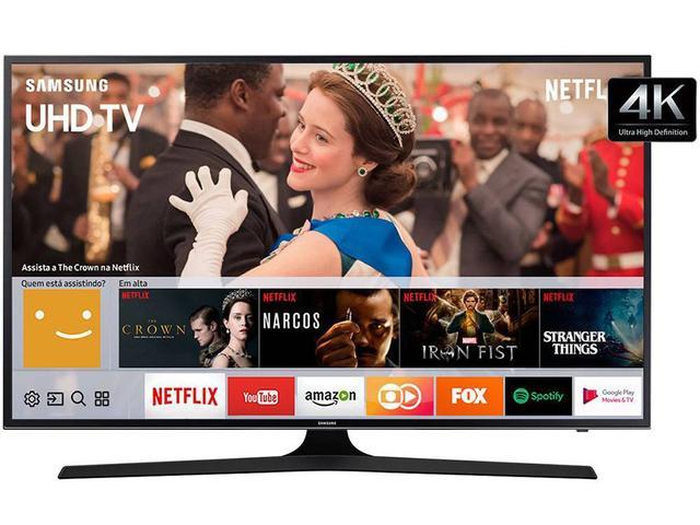 "Imagem de Smart TV 4K LED 65"" Samsung 65MU6100 Wi-Fi"