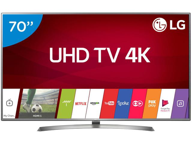 """Imagem de Smart TV 4K LED 70"""" LG 70UJ6585 Wi-Fi HDR"""