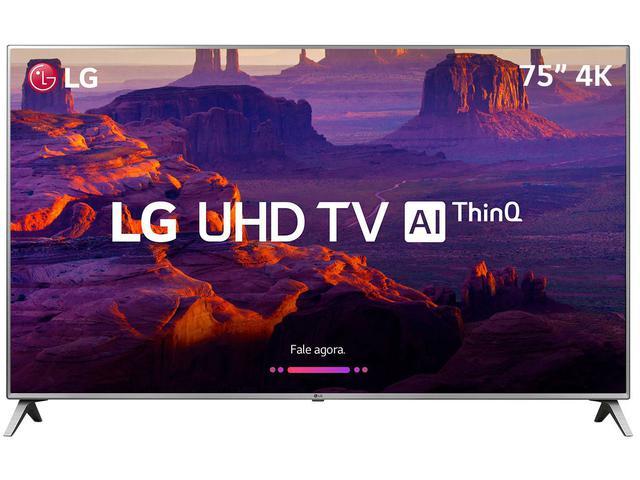 """Imagem de Smart TV 4K LED 75"""" LG 75UK6520 Wi-Fi HDR"""