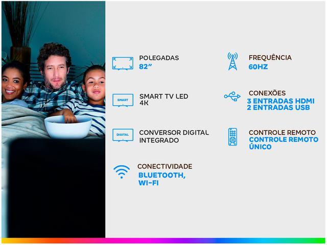 """Imagem de Smart TV 4K LED 82"""" Samsung UN82TU8000GXZD"""