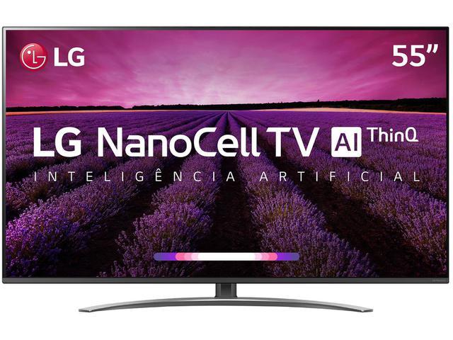 "Imagem de Smart TV 4K NanoCell 55"" LG 55SM8100PSA Wi-Fi"