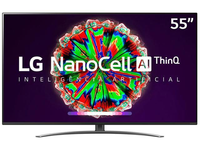 "Imagem de Smart TV 4K NanoCell IPS 55"" LG 55NANO81SNA Wi-Fi"